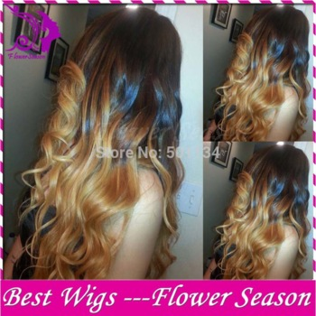 blonde ombre human hair wig