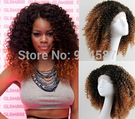 ombre curl hair wig