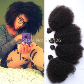 Mongolian Kinky Curly Afro Virgin Hair Extensions
