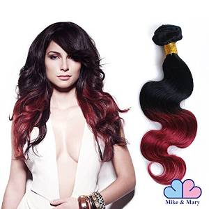 #1b burgundy ombre hair body wave
