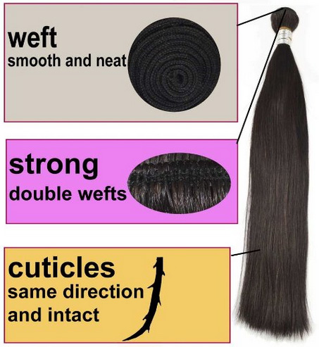 queen rose brazilian remy hair weave straight